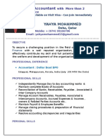 yahya CV