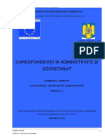 Corespondenta in Administratie Si Secretariat