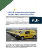 CORREOS Incorpora Flota Electrica