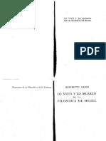 Benedetto Croce - Lo Vivo y Lo Muerto de La Filosofia de Hegel