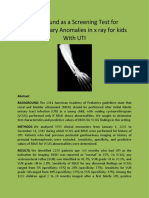 Ultrasound as a Screening Test for Genitourinary Anomalies in x ray for kids With UTI