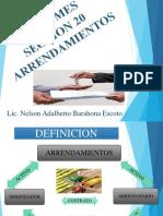 SECCION 20 ARRENDAMIENTOS