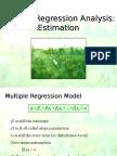 Multiple Regression Analysis- Estimation