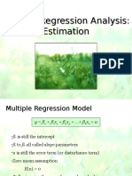Multiple Regression Analysis- Estimation