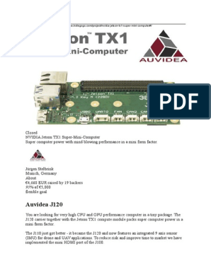 Nvidia Jetson TX1 | Graphics Processing Unit | Electrical