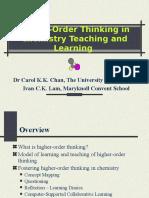 Higher order thinking skill on chemistry