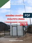 Godišnji izvještaj o kvalitetu zraka u Federaciji BiH u 2015. godini