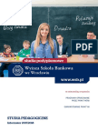 Informator 2017 - Studia Podyplomowe Pedagogiczne - Wyższa Szkoła Bankowa We Wrocławiu