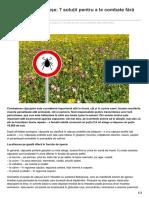 Agrointel.ro-cum Scapi de Căpușe 7 Soluții Pentru a Le Combate Fără Chimicale