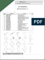2012 TRANSMISSION Manual Transmission - TL
