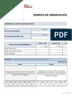 RUBRICA OBSERVACION 2017