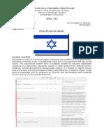 Report in Israel Education