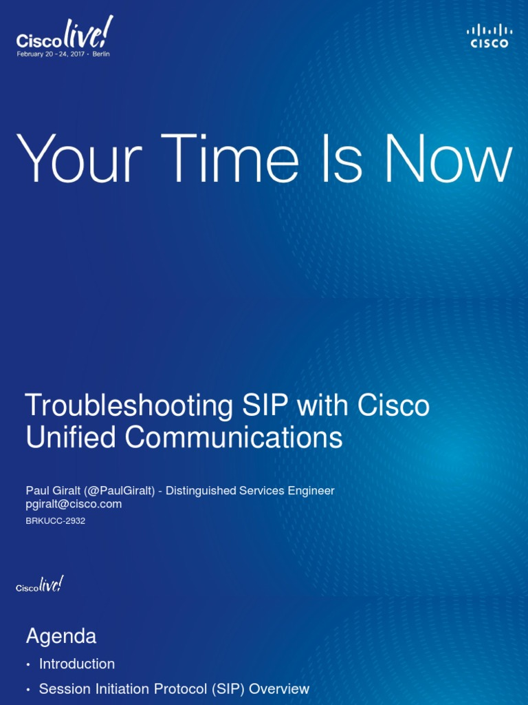 TROUBLESHOOT SIP CISCO LIVE | Session Initiation Protocol