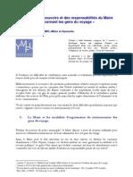 Forum Sécurité Urbaine - Cabinet Milon 2010 - Responsabilités des Maires - Gens du Voyage
