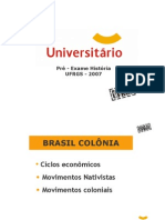 História - Pré-Vestibular Universitário - UFRGS 2007