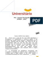 Português - Pré-Vestibular Universitário - UFRGS 2007
