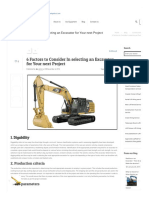 6 Factors to Consider in Selecting an Excavator for Your Project