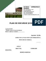 Plan de Excursie