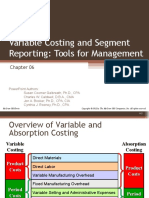 Variable Costing and Segment Reporting Tools for Manageme