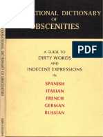 International Dictionary of Obscenities - Peters On, Christina