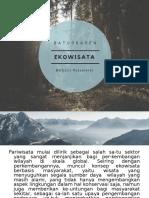 EKOWISATA BERBASIS MASYARAKAT