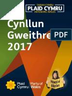 Manifesto Hawdd i'w Ddarllen Plaid Cymru 2017