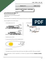 3er Año FISI Guía Nº 2 Movimiento Rectilíneo Uniforme