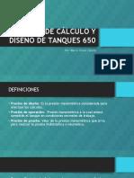 Normas de Cálculo y Diseño de Tanques 650