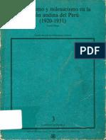 Sindicalismo y Milenarismo en La Region Andina Del Peru 1920-1931 - Ricardo Melgar Bao