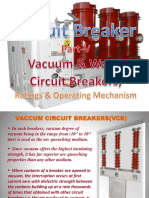(5) Circuit Breaker -Vaccuum & Water CBs, Ratings & Operating Mechanism