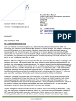 Letter to Secretary of State for Education - Academies Enterprise Trust
