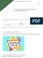 8 Estrategias de Content Marketing Para Instagram en 2017 - PostedIn