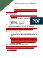 Procesos y Desarrollo de La Negociación