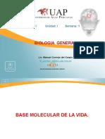 Semana 1 - Base Molecular de Los Seres Vivos
