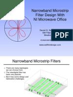 Narrowband Microstrip Filter Design