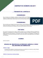 Infile - Acuerdo Gubernativo 404-2011