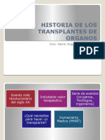 Historia de Los Transplantes de Organos