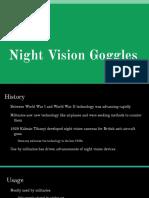 night vision goggles presentation