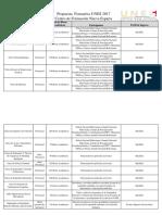 Propuesta Formativa 2017