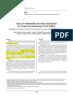 Correlação Com a Clínica - Sepse Por Salmonella