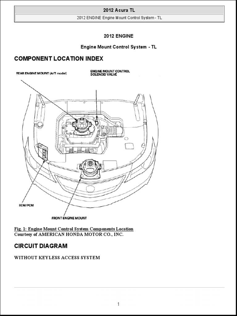 2012 ENGINE Engine Mount Control System - TL   Engines   Valve   Acura Tl Engine Diagram      Scribd