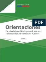 Orientaciones para la elaboración de Procedimientos de Inducción para Servicios Públicos