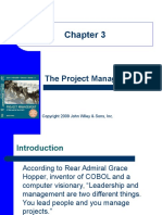 Selection of a Project Manager