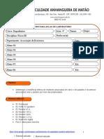 Roteiro Para Aula Pratica Associação de Resistores 2013