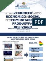 MODELO ECONÓMICO  SOCIAL COMUNITARIO  PRODUCTIVO BOLIVIANO