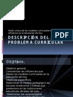 Descripción Del Problema Curricular Diapositivas