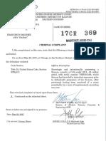 Francisco Sanchez criminal complaint