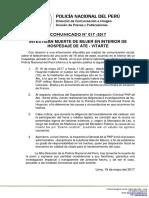 COMUNICADO PNP N° 17 - 2017