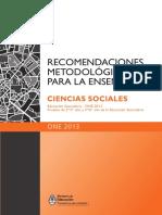 recomendaciones metodologicas 2013