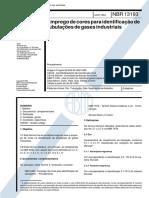 Nbr 13193 - Emprego de Cores Para Identificacao de Tubulacoes de Gases Industriais